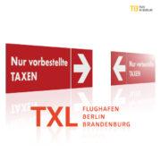 Nur vorbestellte Taxen TXL