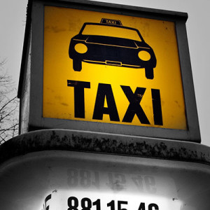 Taxi-Rufsäule